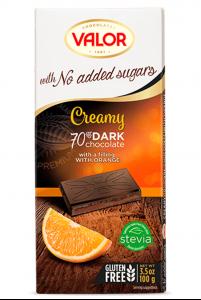Sôcôla Creamy 70% dark vị cam, không thêm đường, hiệu Valor – mã: SCL6525