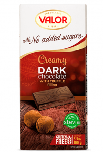 Sôcôla Creamy dark with Truffle, không thêm đường, hiệu Valor – mã: SCL6532
