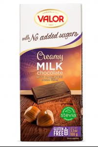 Sôcôla Creamy milk với hạt phỉ, không thêm đường, hiệu Valor  – mã: SCL6549